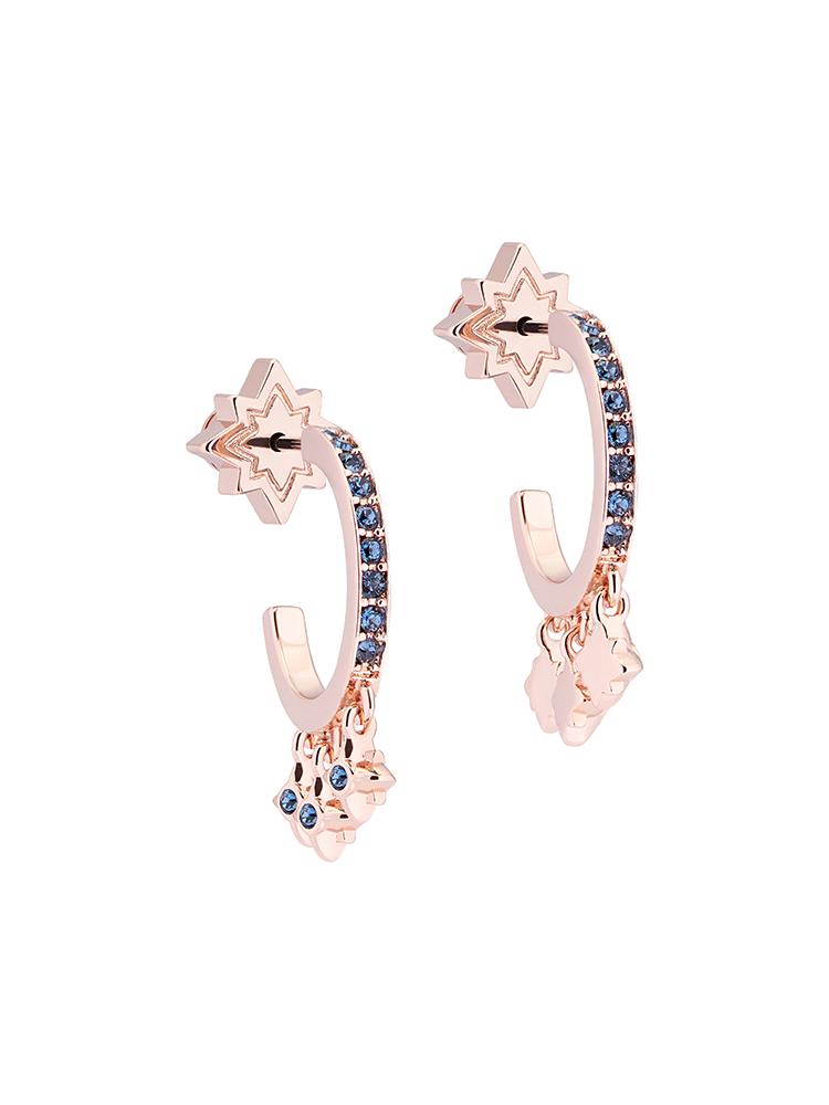 Bozena Pavé Hoop Earrings