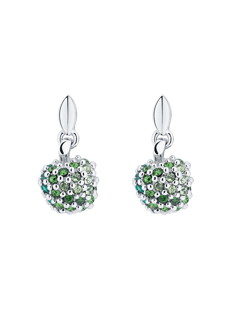 Pavé Apple Drop Earrings