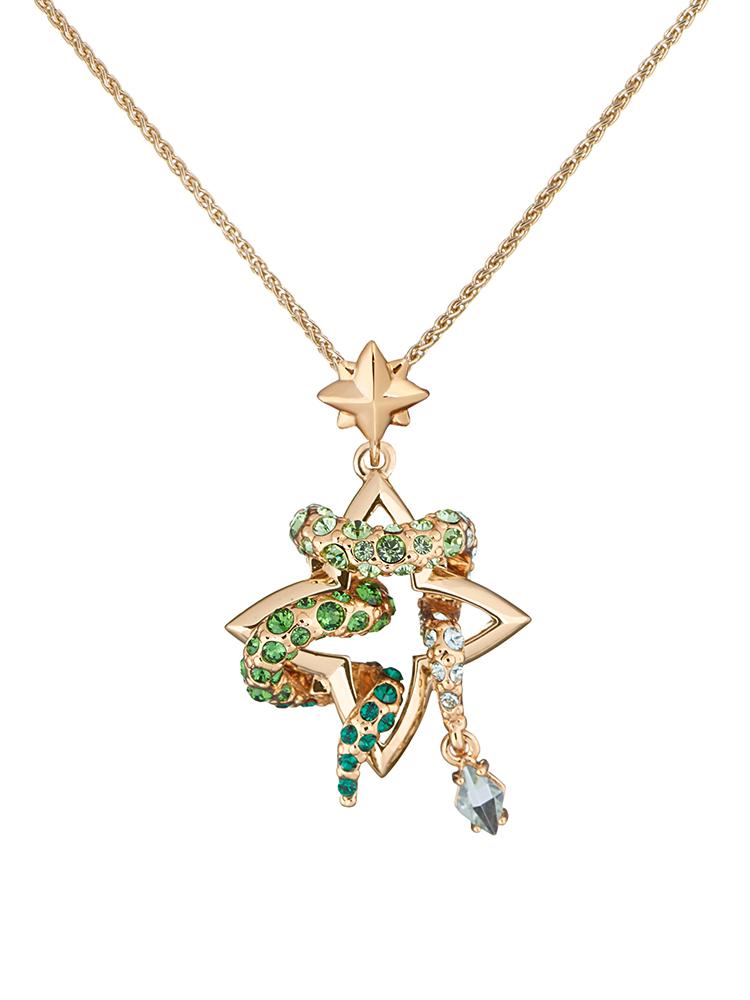 White Snake Pendant Necklace