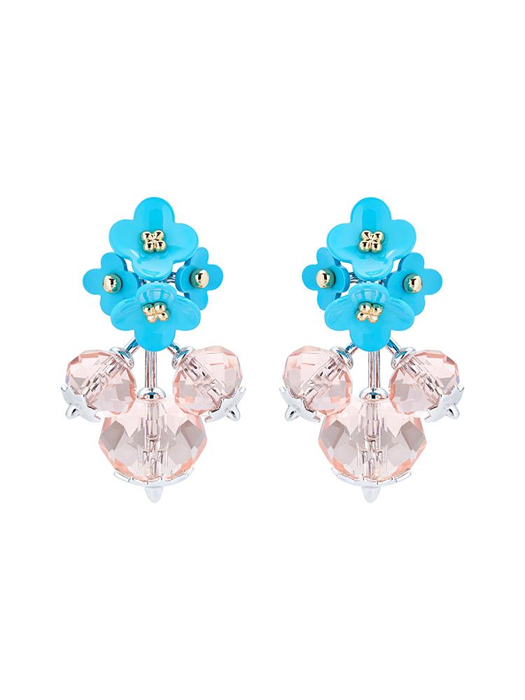 Turnip Flower Cluster Drop Earrings