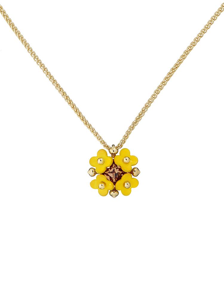Turnip Flower Pendant Necklace