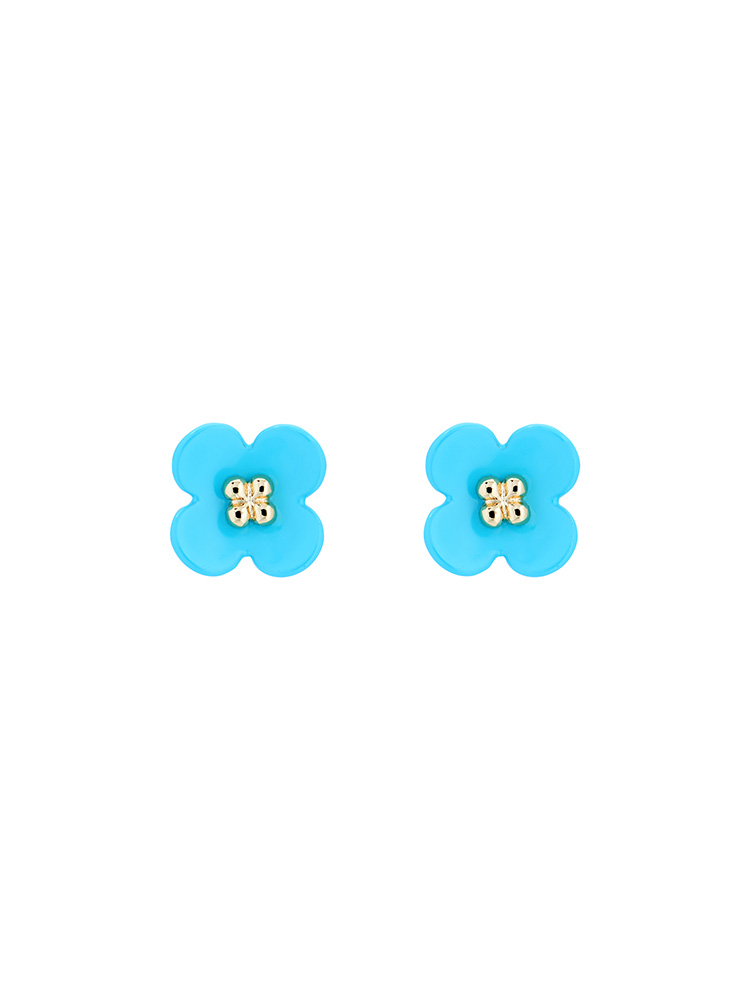Turnip Flower Stud Earrings
