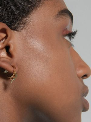 Bozena Pavé Hoop Earrings