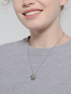 Pavé Apple Pendant Necklace