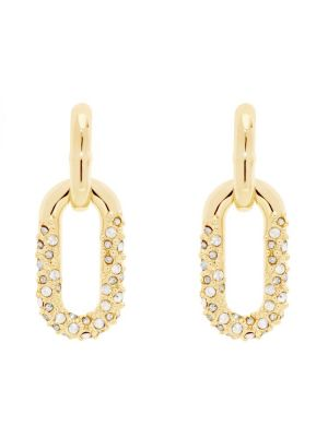 Orion Star Pave Chain Earring
