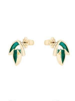 Johanna Leaf Stud Earrings