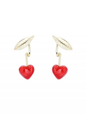 Cherry Enamel Drop Earring