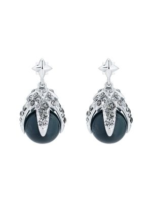 Eagle Crystal Ball Drop Earring