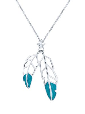 Feather Drop Pendant Necklace